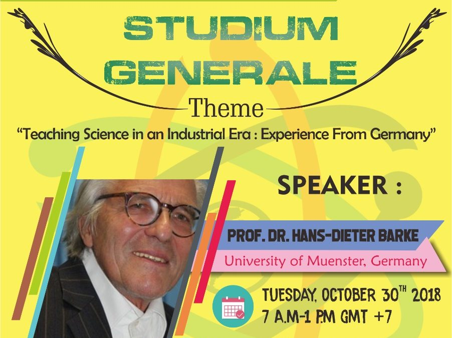 """STUDIUM GENERALE: TEACHING SCIENCE IN AN INDUSTRIAL ERA: AN EXPERIENCE FROM GERMANY"""